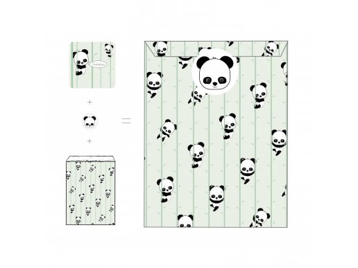 Panda Προσκλήσεις Για Πάρτυ (8τμχ)