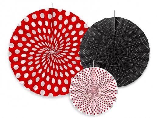 Ladybug hanging decorative fans 3/pcs