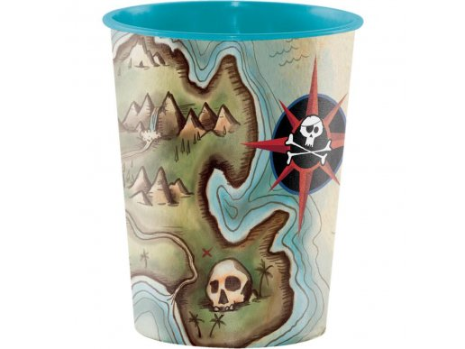 Πειρατικός Χάρτης Πλαστικό Ποτήρι
