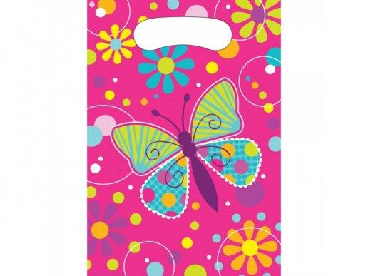 Butterflies Plastic Lootbags (8pcs)