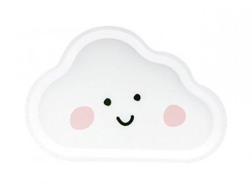 Πιάτα Χάρτινα Σε Σχήμα Σύννεφου 6τμχ
