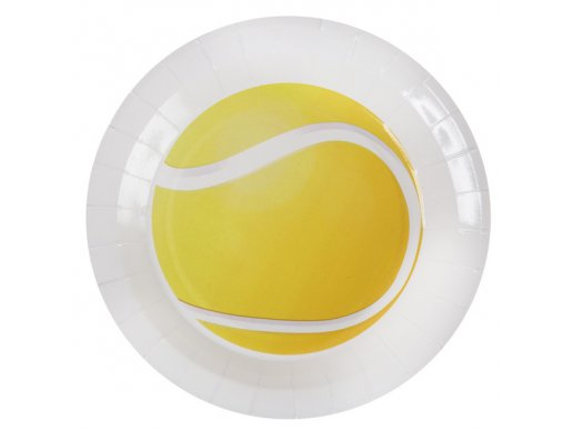 Tennis Large Paper Plates (10pcs)