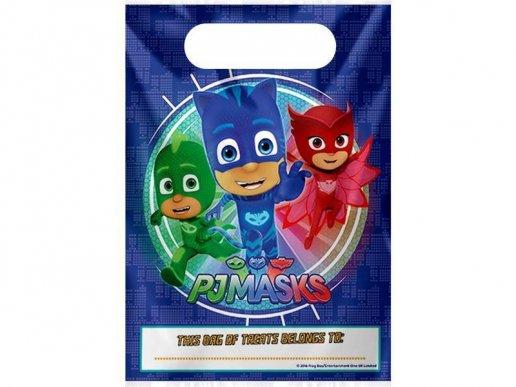 PJ Masks Πλαστικές Σακούλες για Δωράκια 8τμχ