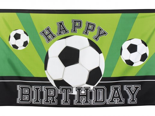 Soccer Happy Birthday Fabric Banner