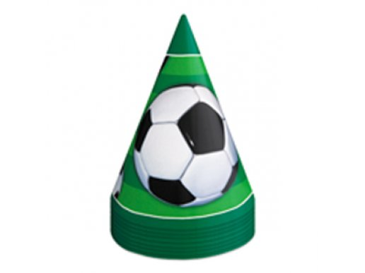 Soccer Party Hats 8/pcs