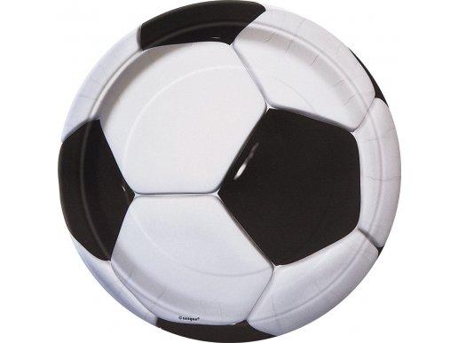 Large Paper Plates Soccer 8pcs