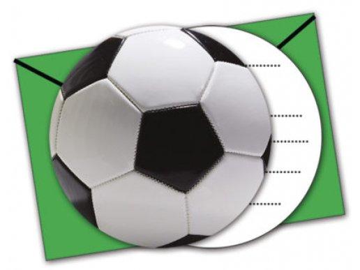 Soccer Theme Party Invitations 6/pcs