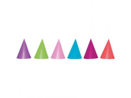 Multicolor Party Hats 6/pcs
