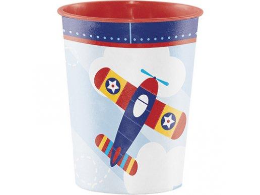 Πολύχρωμο Αεροπλάνο Πλαστικό Ποτήρι