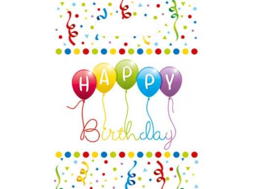 Πολύχρωμα Γενέθλια Με Μπαλόνια Πλαστικές Σακούλες Για Δώρα 6/Τμχ
