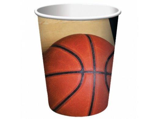 Basketball paper cups (8pcs)