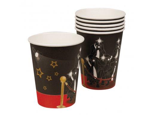 Hollywood VIP paper cups 6/pcs