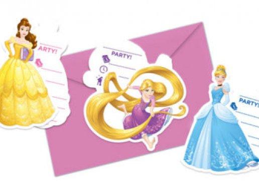 Disney Princess Party Invitations (6pcs)
