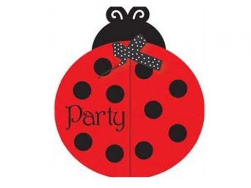 Ladybug party invitations 8/pcs
