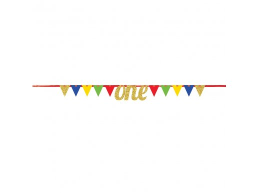 Colorful ONE pennant banner (2,7m)