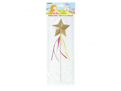 Gold Star Wand with Ribbons