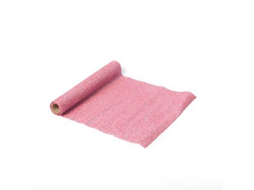 Pink Glitter Organza Table Runner