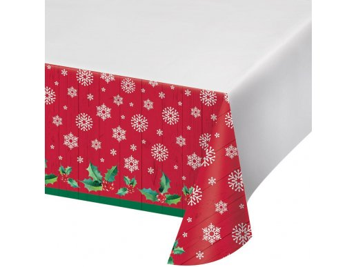 Rustic Santa Plastic Tablecover