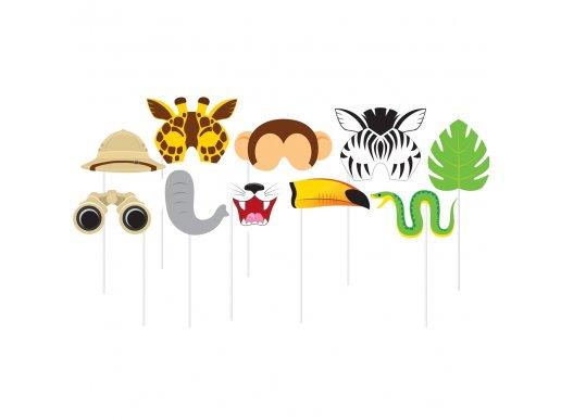 Safari photobooth props (10pcs)