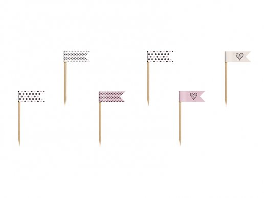 Sweets Collection mini flags toppers (6pcs)