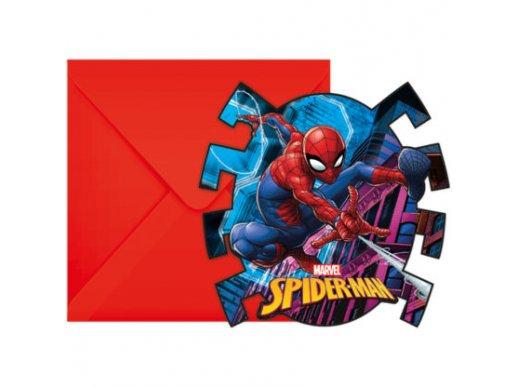 Spiderman Party Invitations 6/pcs