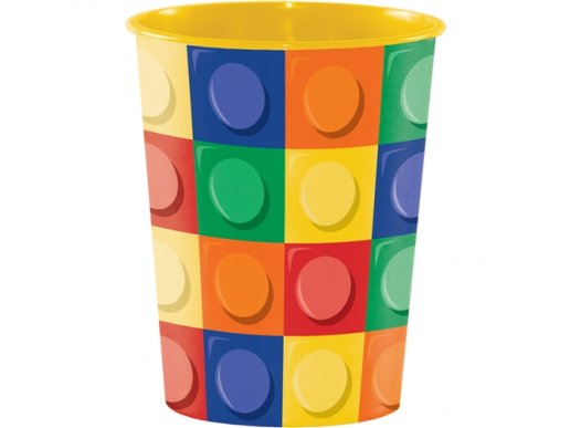 Block Party Plastic Cup