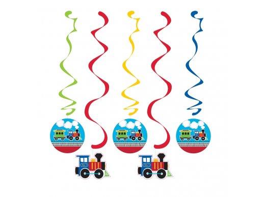 Little Train swirl decoration (5pcs)