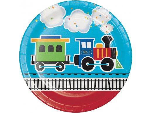 Little Train large paper plates (8pcs)