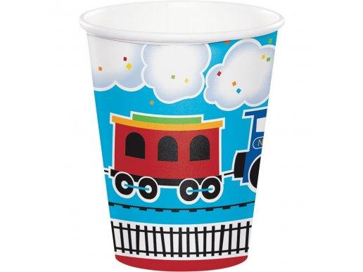 Little train paper cups (8pcs)