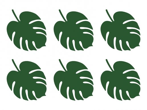 Tropical Paper Leaves for Decoration (6pcs)
