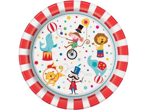 Circus Large Paper Plates (8pcs)