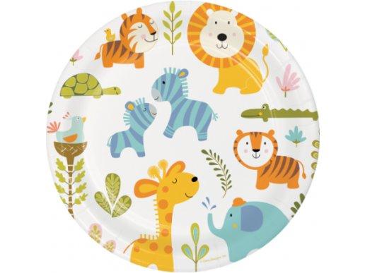 Happy Jungle Animals Large paper plates (8pcs)