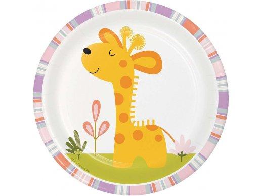Χαρούμενα Ζωάκια Της Ζούγκλας Μικρά Πιάτα (8τμχ)