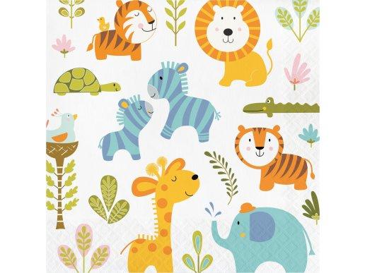 Happy Jungle Animals luncheon napkins (16pcs)