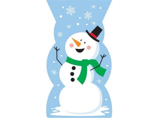 Snowman Plastic Treat Bags 20/pcs