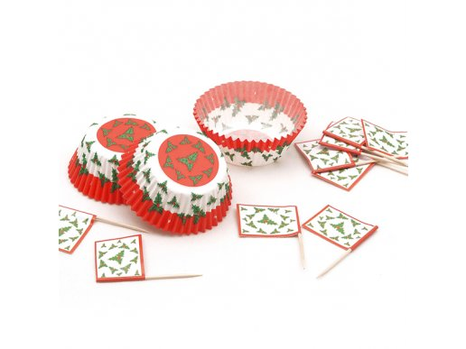 Chritsmas Cupcake Kit 24/pcs