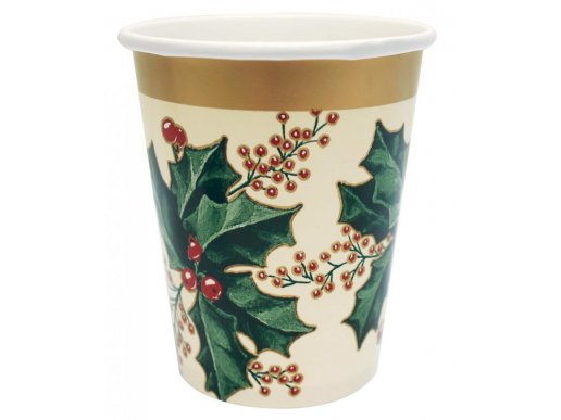 Winter Holly paper cups 25/pcs