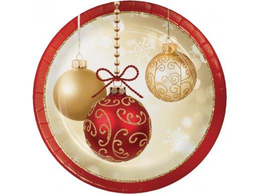Opulent Ornaments small paper plates 8/pcs