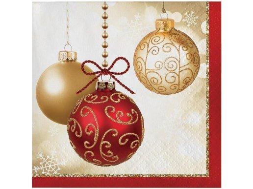 Χριστουγεννιάτικες Μπάλες Χαρτοπετσέτες 16/Τμχ