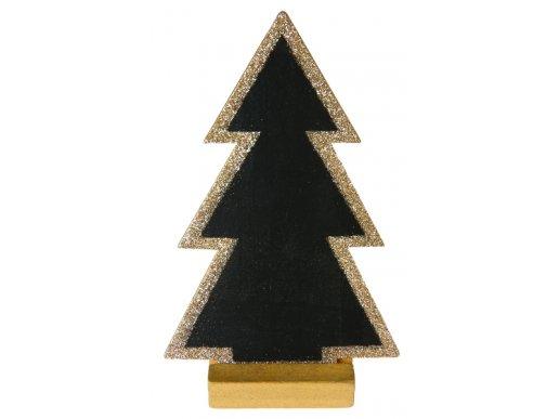 Shaped Blackboard Gold Christmas Tree