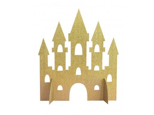 Χρυσό Με Γκλίτερ Κάστρο Διακόσμηση Για Τραπέζι