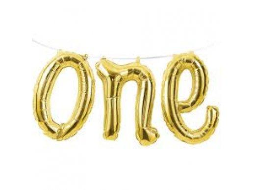 Χρυσό One Foil Μπαλόνι Γιρλάντα