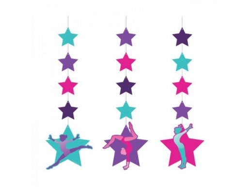 Gymnastics Hanging Decorations (3pcs)
