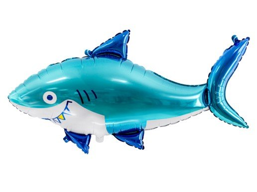 Foil Μπαλόνι με Σχήμα Καρχαρία (92εκ x 48εκ)