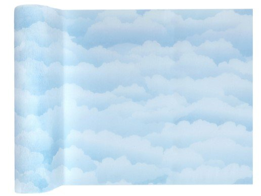 Pale Blue Clouds Runner for the Table (30cm x 5m)