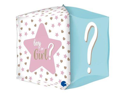 Girl or Boy Τετράγωνο Μπαλόνι με Ερωτηματικό (38εκ)