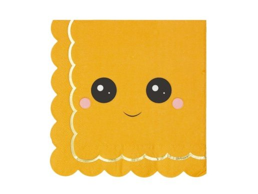 Sweet Pumpkin Luncheon Napkins with Gold Foiled Details (16pcs)