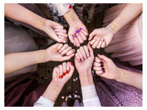 Gold Tattoos Team Bride 12pcs