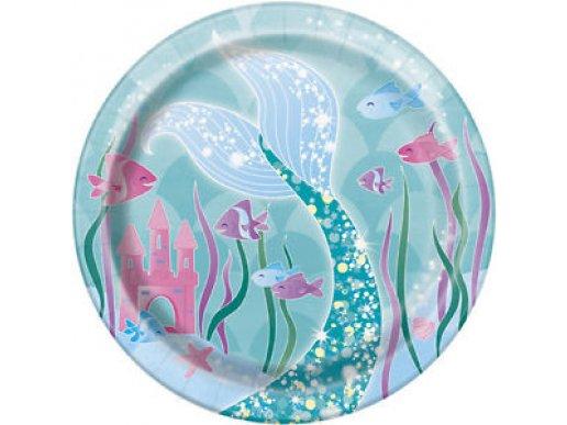 Mermaid Small Paper Plates (8pcs)