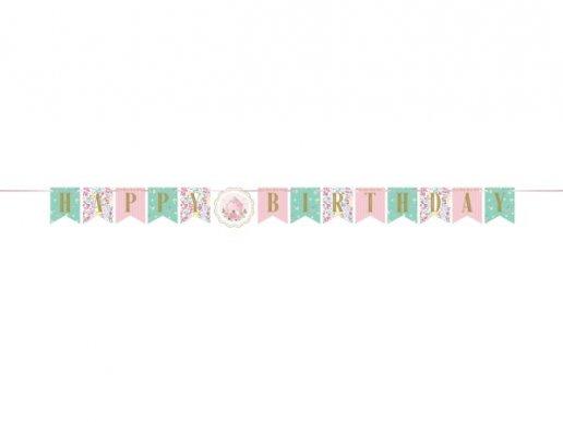 Floral Tea Party Happy Birthday Garland (1,67m)